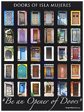 Buy my Doors poster & Buy Doors of Isla Mujeres by Photographer Miyuki Edwards Pezcame.Com