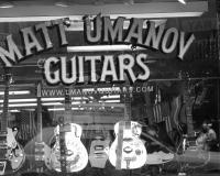 guitar store by photographer miyuki edwards
