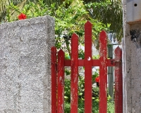 miyuki edwards photograph of  red wooden gate