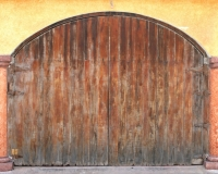 miyuki edwards photograph of large wooden door