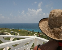 miyuki edwards photograph view of sculpture garden isla mujeres
